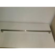 Puxador Para Móveis Barra Chata 40cm Aço Escovado - Zamac