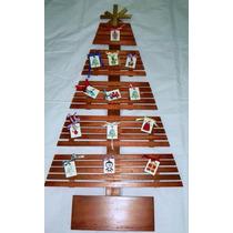 Àrvore De Natal De Madeira Com Enfeites!