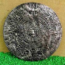 Calendário Pedra Do Sol Maya Inca Asteca Grand 43cm Prateado
