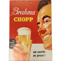 Placa Decorativa Brahma 20x14 Decoração Bar E Churrasqueira