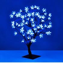 Luminária Cerejeira 96 Leds Pisca Azul 80cm Árvore Natal