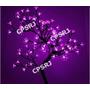Luminária Cerejeira 60 Leds Pisca Lilás 45cm Árvore Natal