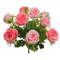 Buquê De Rosas Diversas Cores 38 Cm - Flores Artificiais