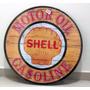 Placa Decorar Mdf Garagem Shell Retro Óleo Gasolina Motor