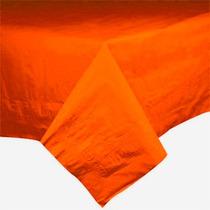 Toalha De Mesa De Papel, Forro Plástico, Laranja, 1,4x1,4