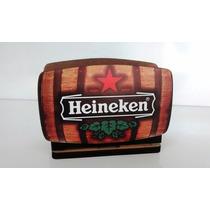 Porta Guardanapo Cerveja Heineken Em Mdf Decoração Rustica