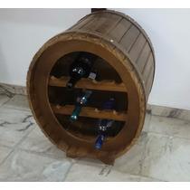 Adega Artesanal Rustica Em Madeira P/ 10 Garrafas