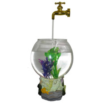 Aquario Magico Fonte De Agua Com Torneira Led Para Decoracao