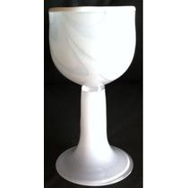 Taça Murano Assinado Antiga 18cm Alt 9cm Diam