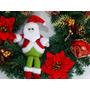 Guirlanda Natal Luxo Grande Decorada Com Noel Flores Bolas