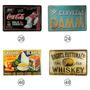 Placa Metal Vintage Retrô-bar-coca Cola-cerveja-churrasco