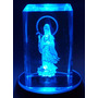 Cristal Com Iluminação Kuanyin Mod 09117