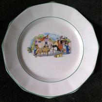 Prato Porcelana Porto Ferreira Antigo 18 Cm