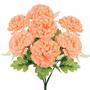 Crisantemo C/7 Gyp Salmão 36cm(25973011) -flores Artificiais