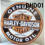 Placa Decorar Bar Garagem Moto Harley Davidson Genuine Oil
