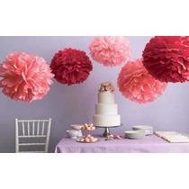 Balão Flor Pompom Decorativo Em Papel Seda 10 Unidades
