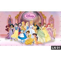 Princesas Painel 3m² Lona Festa Banner Aniversario Decoração