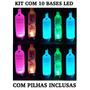 Kit 10 Base De Led Luminosa, Vodka, Absolut, Garrafa Pisca