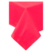 Toalha De Mesa De Papel, Forro Plástico, Vermelha, 1,4x1,4