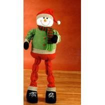 Boneco De Neve Articulado Snowman Decoração Natalina Natal