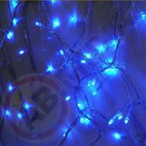 Pisca Pisca Azul Led Natal Natalino 100 Lampadas Luz Enfeite