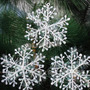 Floco De Neve 3d Frozen Natal Decoração Festa Inverno 30un