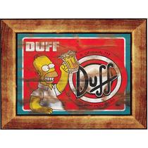 Quadro Decorativo Madeira Mdf Duff Simpsons Melhoro Do Ml