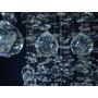 50 Bolas Cristal +100 Castanhas Montagem Lustre Plafon