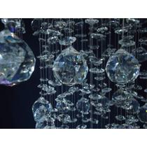 Kit Esfera E Castanha Cristal Montagem Lustre, Plafon ,