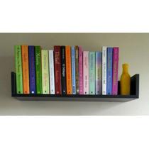 Prateleira Decorativa Livros 80cm Mdf Preto Fabric. Própria