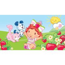 Painel Decoração De Festa Moranguinho Baby - 2x1,50
