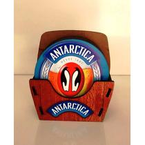 Porta Copos Cerveja Antarctica Rustico Decoração