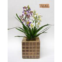 Flores Artificiais - Arranjo Com Mini Orquídeas