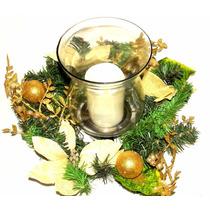 Enfeite Arranjo Mesa Natal Decoração Natalina Vela De Led