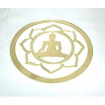 Ma4102-09 - Mandala Buda Tibetano Acrílico Espelhado Dourado