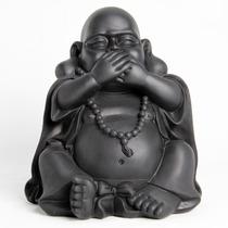 Estátua / Estatueta Buda Da Sorte Sidarta Não Fala - Resina
