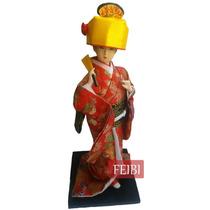 Boneca Gueixa 30cm/japonesa/oriental/chinesa/decoração