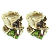 Cinzeiro Decorativo Cranio Caveira Resina 2por1 Frete Gratis