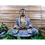 Buda Hindu Saúde Resina Decoração Estatua Chakras 21,5 Cm