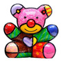 Escultura Fun Bear - Romero Britto - Em Resina