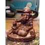 Ganesha Pintado À Mão Em Gesso.
