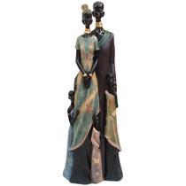 Africana Casal Gigante Boneca Em Resina Escultura, Estáua