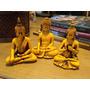 Trio De Budas Em Resina Maravilhoso!