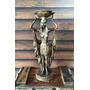 Estatueta Estatua Escultura Castiçal Decoração Egípcia 35cm