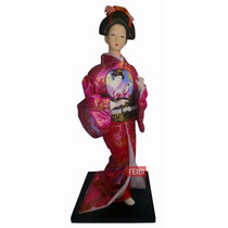 Boneca Gueixa 30cm Japonesa Oriental Chinesa Decoração