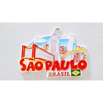 Imã Geladeira Pontos Turísticos São Paulo Brasil/ Lembranças