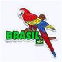 Imã De Geladeira Do Brasil Arara Emborrachado Lindo Souvenir