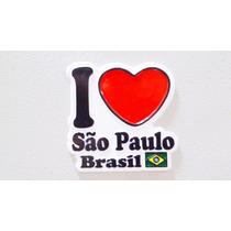 Imã De Geladeira Emborrachado São Paulo Brasil/ Lembranças