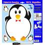 Lousa De Recado Imã Pinguim Painel Para Geladeira