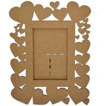 1 Quadro Porta Retratos Em Mdf Cru / Fotos 10x15cm Oferta